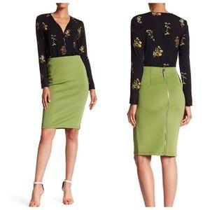 Catherine Malandrino Siren Green Slim Skinny Skirt